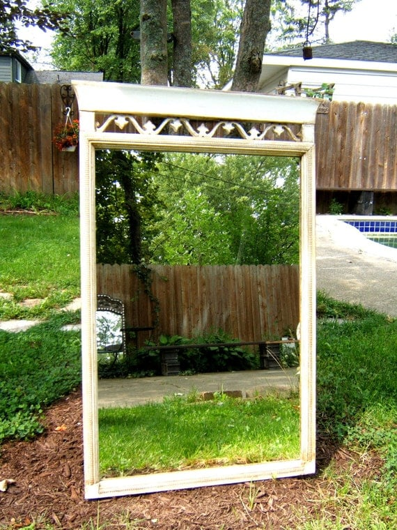 Antique Wood Mirror Cottage/Shabby Chic