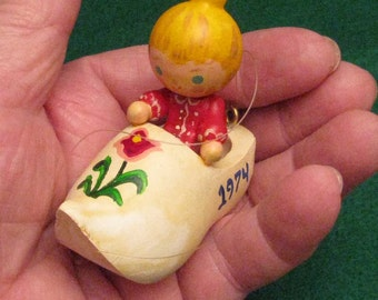 Wooden shoe doll ornament