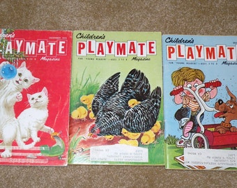 1971 and 1972 Childrens Playmate Magazines Three