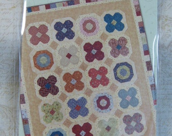 Whimsicals Buttons and Blooms  fat quarter friendly quilt pattern