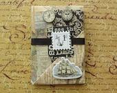 Victorian Passport Travel Mini Scrapbook, journal, photo album