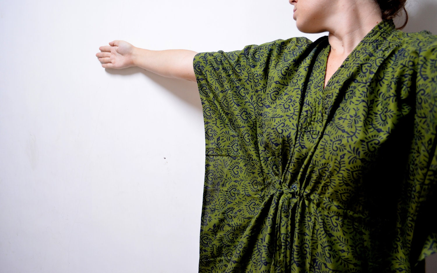 Green+silk+dressing+gown