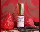 Organic Strawberry Vanilla Perfume Oil - Botanical Vegan fragrance with Natural aroma - Strawbenilla