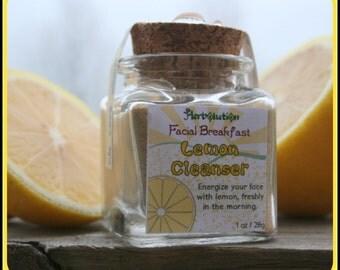 Organic Lemon Face Scrub - vegan facial cleanser  - Natural and eco-friendly Facial Breakfast