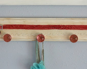 Shabby French Wood Jewelry Hanger Organizer