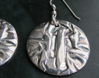 30% off - Abstract Fine Silver Earrings