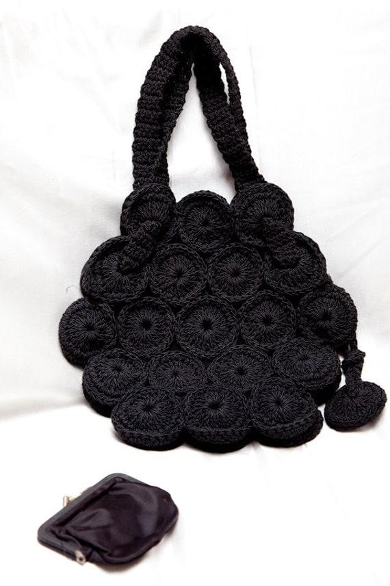 Reserved for B Black Crochet Bag