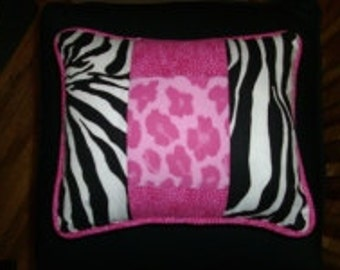 "Small Pillow Cushions, One 10 "",Made to Order,use your own 3 fabrics, custom, includes piping, and zipper."