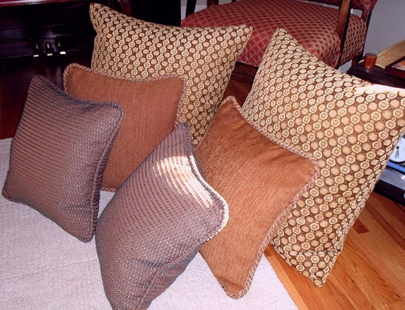Decorative Pillows, Custom, any size with trim or piping, includes zipper. Use your own fabric, Made to Order.