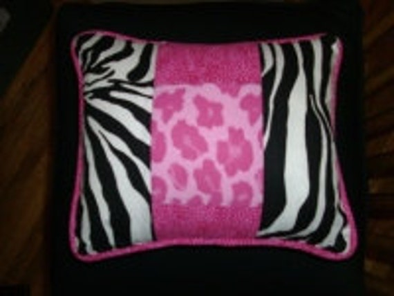 """Small Pillow Cushions, One 10 """",Made to Order,use your own 3 fabrics, custom, includes piping, and zipper."""
