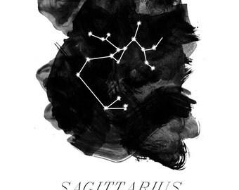 5x7 zodiac print - choose your sign