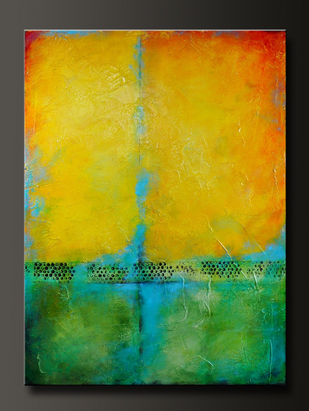 Harmony - 30 x 40 - Original Abstract Modern Acrylic Painting - Huge ...