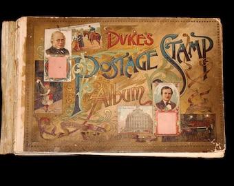 1889 Dukes Postage Stamp Album - N85 - W. Duke Company Tobacco Card Premium Chromolithographed Album