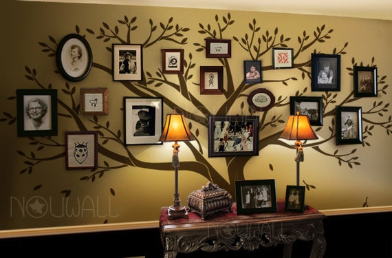 Wall decal Family Tree Wall decal Living Room Wall by NouWall
