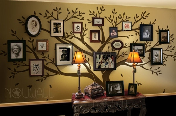 Family Tree Photo Wall 28+ [ family tree wall stickers ] | family tree birds wall quotes