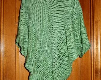 sage green womens poncho