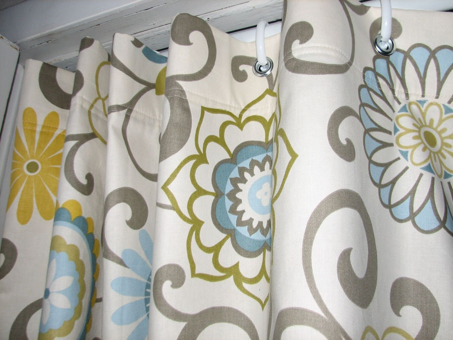 Pom Pom Play Shower Stall Curtain by GiulianaDesign on Etsy