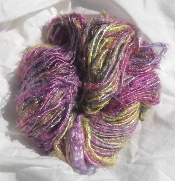 Purple yellow  100 grams Banana Silk Yarn