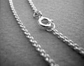 sterling silver 1.5mm cable chain