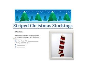 Striped Christmas Stocking Pattern