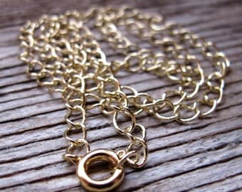 Gold Chain Necklace for Charm, Pendant, Dangles - 5mm Twisted links Chain - Necklace Chain. Gold Necklace. Gold Chains - Simple Neckace