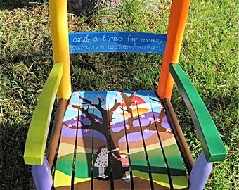 Hand Painted Kidsu0027 Rocking Chair   Family Tree   Shipping Included In Price