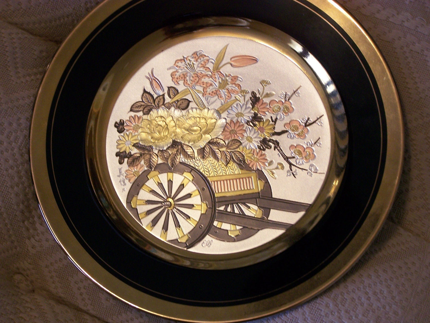 Chokin Plate China Japan