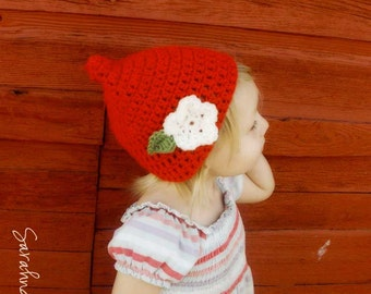 Crochet Kids Pixie Elf Gnome Hat - You Choose Color