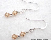 November Topaz Crystal Swarovski Sterling Silver Birthstone Earrings