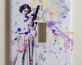 Princess Leia Star Wars Art Decorative Light Switch Plate Cover Great Star Wars Room Decor