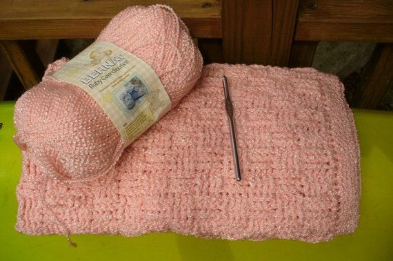 Crochet Baby Blanket Basket Weave Pattern : Cozy and Soft Crocheted Basket Weave Baby by ...