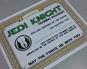 Star Wars Certificate Party Printable - Training Academy Certificate (digital print)