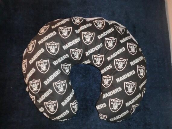 Oakland Raiders black Boppy Cover