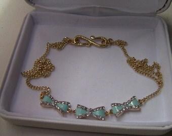 Tiffany Blue Bow Necklace