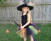Romper Witch Tutu Costume - XX Large - 5 to 6 year - with hat
