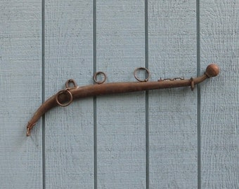 Vintage Farm Salvage Antique Metal Horse Collar or Hame