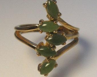 Large Ring Jade Glass 18K HGE