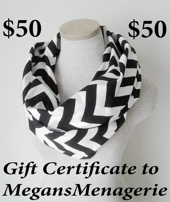 50.00 USD Gift Certificate