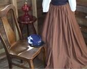 Renaissance Skirt Pirate Skirt Renaissance Costume Civil War Long Skirt colors available