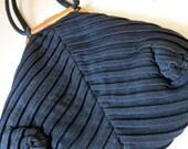 Vintage 1940s Black Evening Pouch Purse with Change Purse