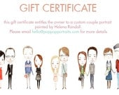 GIFT CERTIFICATE - Custom Couple Portrait