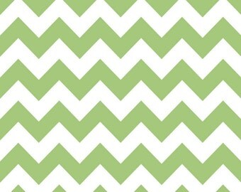 SALE - Riley Blake - Medium Chevron in Green