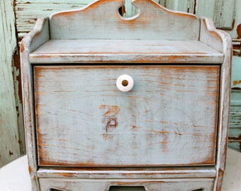 Breadbox - Shabby Kitchen - Cottage Chic - Your Antique Color choice