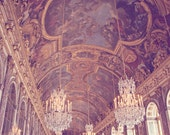 Versailles Photography, French Decor, Paris Print, Paris Decor, Paris Palace Photography, Crystal Chandeliers Print - Hall of Mirrors
