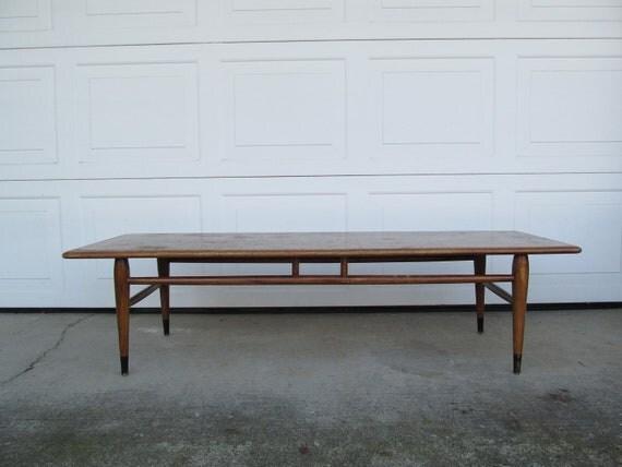 vintage mid century lane coffee table acclaim series 1960s. Black Bedroom Furniture Sets. Home Design Ideas
