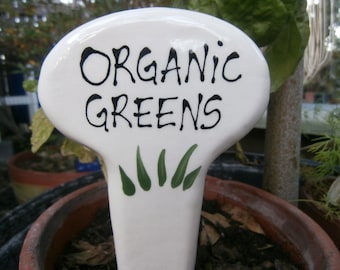 Organic Greens Garden Stake