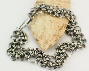 Stepping Stones Bracelet  Kit in Stainless Steel - Intermediate Chainmaille