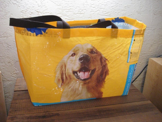 Recycled Upcycled Reusable Extra Large Dog Food Market Tote