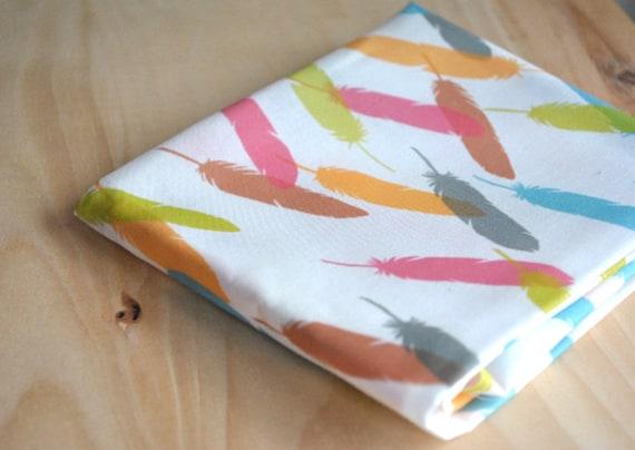 feathers - feather fabric - original fabric - fat quarter