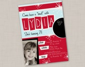 Bowling Birthday Invitation (1A) -- Print Your Own